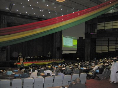 The main hall at eLearning Africa 2008