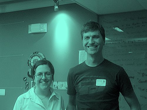 Erin Reilly and me at Project New Media Literacies, MIT